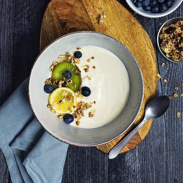 Thick, creamy, VEGAN yogurt