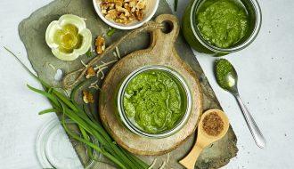 Garlic Chive Pesto